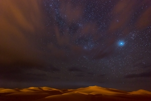 Picture of Stars, Dunes and Clouds in Marzuga Desert
