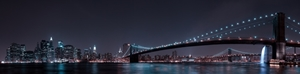 Picture of Manhattan Skyline and Brooklyn Bridge