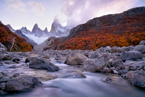 Picture of Fitz Roy under Twilight