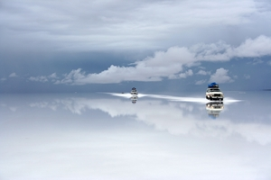 Picture of Bolivia salt desert after the rain