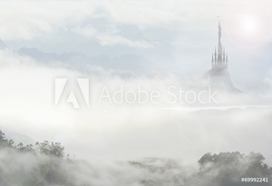 Picture of fairy palace in clouds