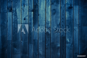 Picture of Dark Blue Wood Background