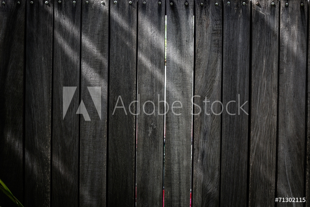 Picture of black wood plank background