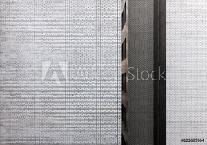 Picture of Exterior white brick wall