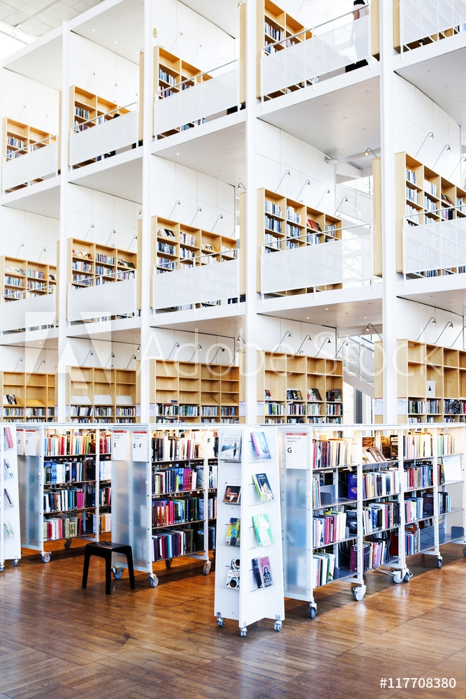 Picture of Book shelves in library