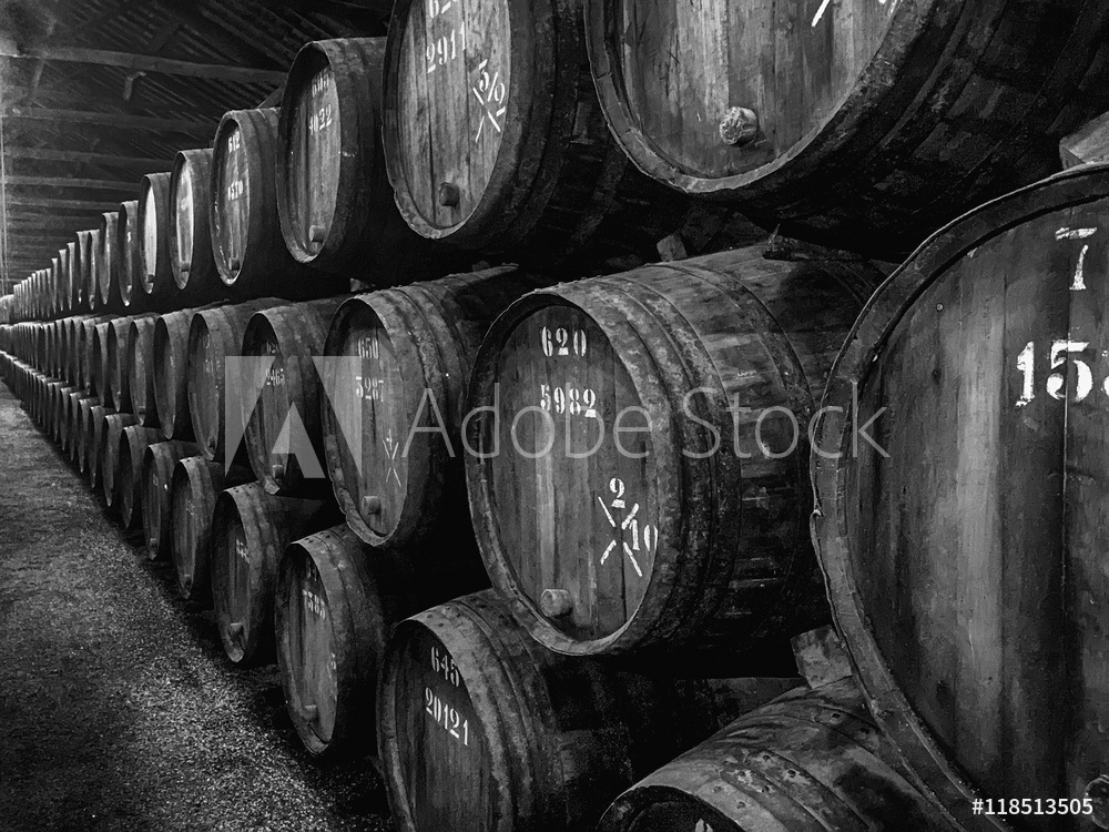 Picture of Barrels of Port In Winery