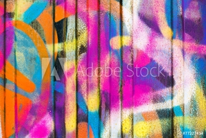 Picture of Colorful painted wall