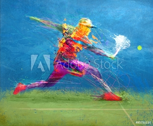 Picture of Abstract tennis player