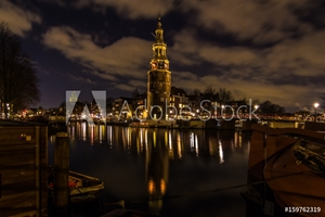 Picture of Kirche an der Gracht in Amsterdam