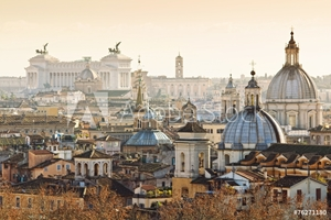 Picture of Panorama of old town in Rome, Italy