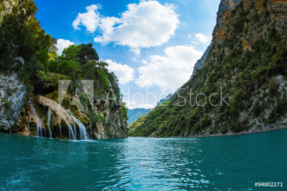 Picture of  The waterfall on wall of canyon Verdon